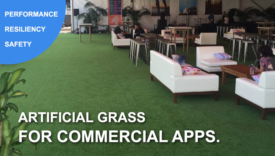 Artificial Grass for Commercial Landscape Lawns parks hotels schools adult care facilities city medians
